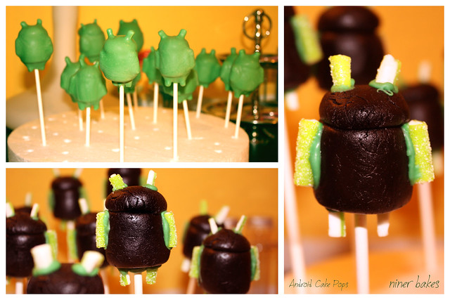 Android Cake Pops - Google Android Robot Cake Pops
