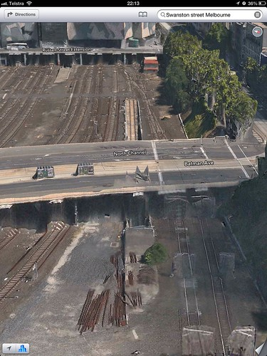 Apple Maps Goodness - How Flinders Street Signal Box D, Federation Square gets the Apple 3D Treatment