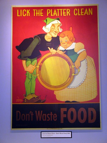 """Lick the Platter Clean - Don't Waste Food"". 1944"