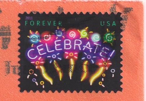USA Celebrate Stamp