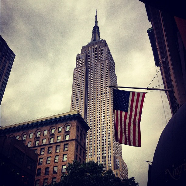 Empire State building from 5th ave.