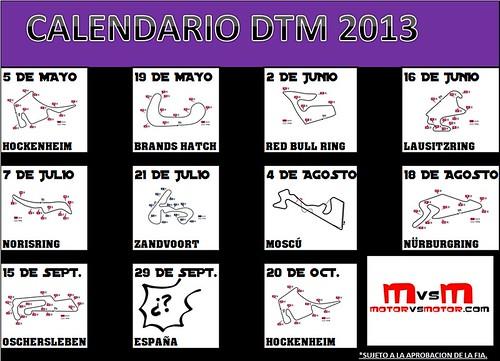 CALENDARIO DTM 2013