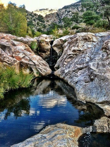 camera arizona southwest water pool landscape fun outdoors desert adventure backpacking backpack coronadonationalforest catalinastatepark romerocanyon pimacounty puschridgewilderness romeropools takenwithmyiphone hdrfilter bighornsheepmanagementarea thepackwasheavy romerocanyontrail8
