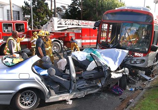 Hollywood Bus Crash Sends 35 to Hospital © Photo by Mike Meadows, click to view more...