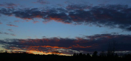 trees light sunset sky nature clouds landscape colorful vermont