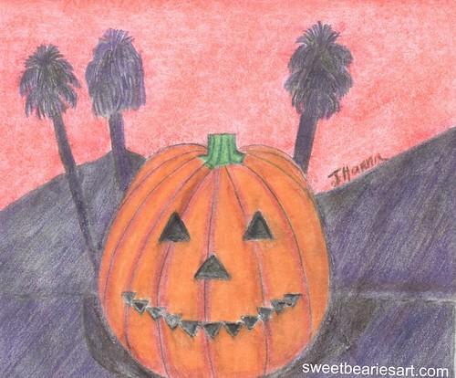 Happy Southern California Jack o Lantern
