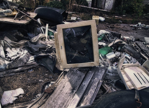 Discarded Dell Monitor
