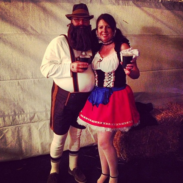 There were some great costumes and you can see more pics from last night on ...