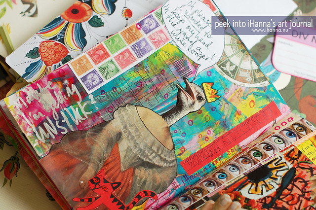 Art journal peek: Bird Talk