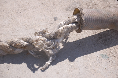 mooring line bad condition