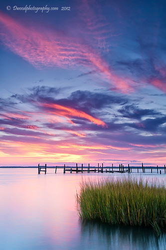 pink blue green water landscape island virginia dock purple pastel sandy hurricane va views oe chincoteague chincoteagueisland dwoodphotography dwoodphotographycom hurricanesandy chincoteagueislandviews