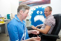 Dean Royles becomes a flu fighter