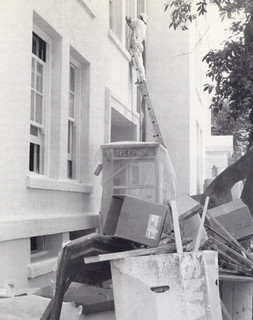 Working on Smiley Hall in 1990