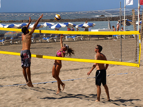 Volleyball in Los Cristianos, Tenerife