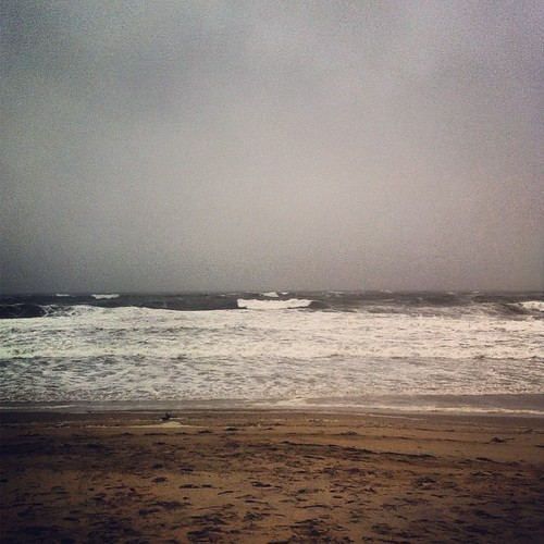 rough waves and wind #sandy #maine
