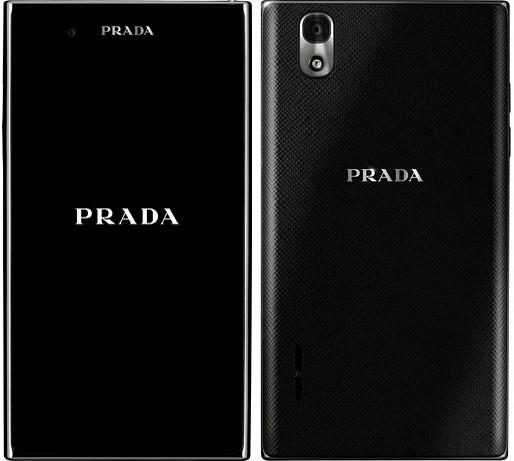 PRADA phone by LG L-02D 実物大の製品画像