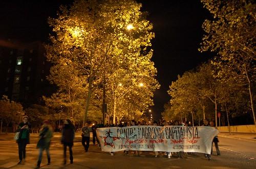 La manifestació, passant pel parc de Catalunya. Autor: J.d.A