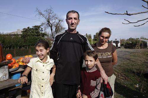 Venditori di frutta lungo la strada per Tbilisi