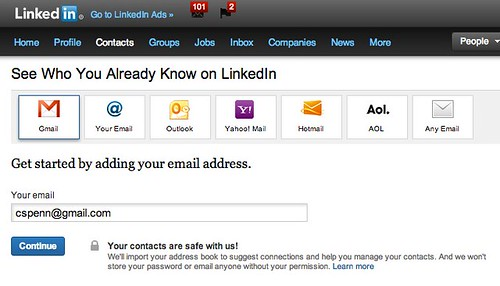 Import Contacts and Invite | LinkedIn