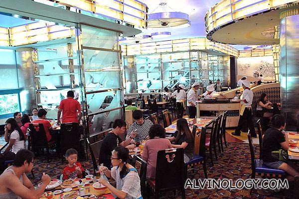Inside Chef Mickey restaurant