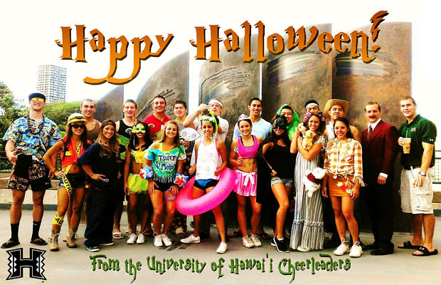 <p>UH Manoa Cheerleaders</p>