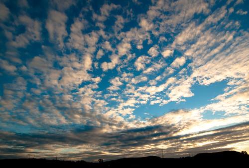 Nubes al atardecer by treboada