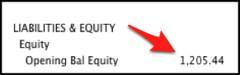 opening balance equity balance sheet report