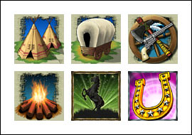 free Western Frontier slot game symbols