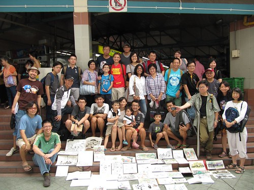 Bedok sketchwalk - group!