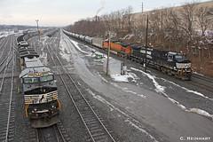 Trains meet at Rose.