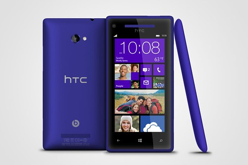 WP 8X by HTC California Blue 3views