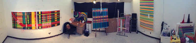 Panorama shot of my Grad Studio at EIU's Burl Ives