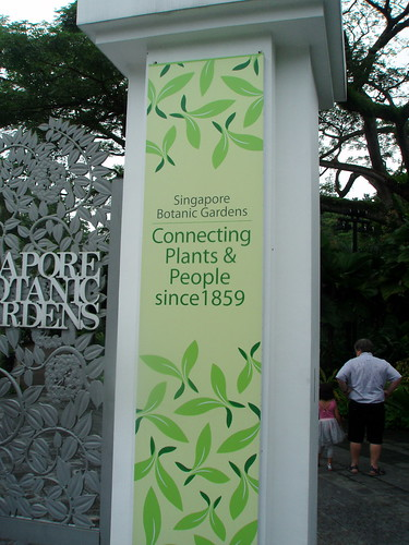 """connecting plants & people since 1859""- Singapore Botanic Gardens by ellen forsyth"