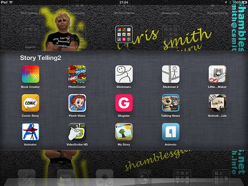 Digital Storytelling Apps on Shamblesguru's iPad (folder 2)