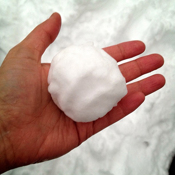 #snow #snowball #hand #cold