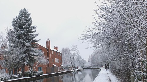 Canal in the Snow
