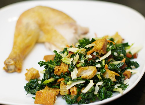 Kale Salad Roast Chicken Leg