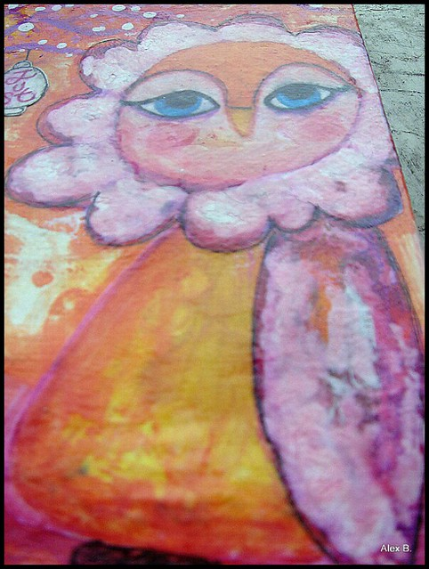quadro mixed media c'e'crisi shop art journal pages january 083