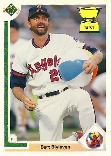 Baseball Card Bust Bert Blyleven 1991 Upper Deck