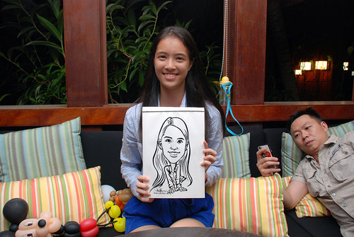 caricature live sketching for Mark Lee's daughter birthday party - 25