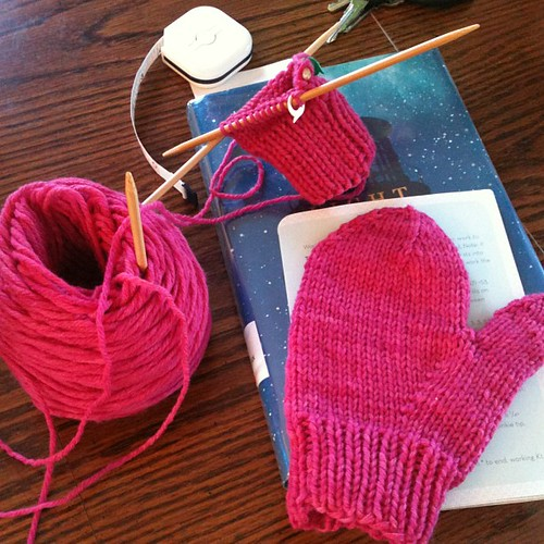 Saturday morning knitting