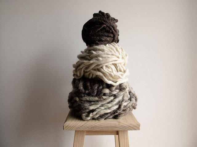 giant skeins of wool