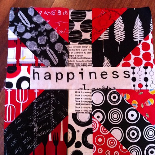 #xplusalong block 4 Happiness! by Scrappy quilts