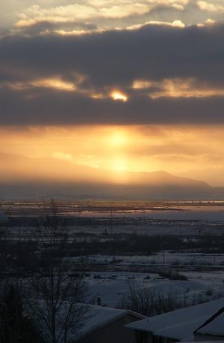 winter sunset usa mountain snow clouds utah sony dslr provo utahlake a700 2013 provobay provosouth ringscreek