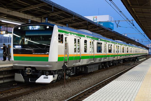 E233系3000番代 タカD15編成 回9891M
