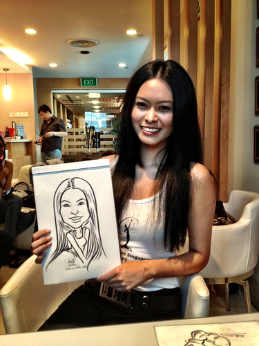 caricature live sketching for Orchard Scotts Dental for Miss Universe Singapore - 13