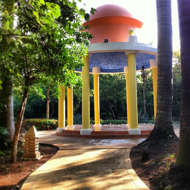 The gazebo we were married at 5 years ago #mexico
