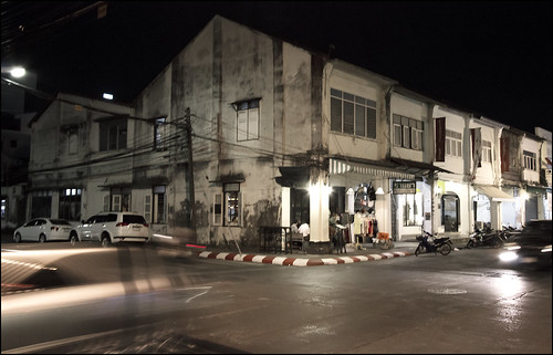 Phuket Town at night