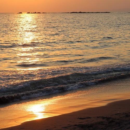 夕暮れ。 #shonanbeachyoga #nofilter #sunset