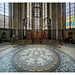 Cologne Cathedral, floor and stained glass windows